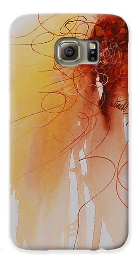 Creativity Galaxy S6 Case featuring the painting Creativity by Nadine Rippelmeyer