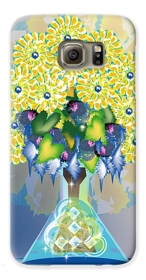 Flowers Galaxy S6 Case featuring the digital art Crystal Boquet by George Pasini