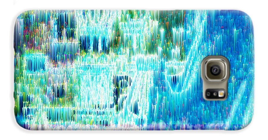 Northern Lights Galaxy S6 Case featuring the digital art Crystal City by Seth Weaver