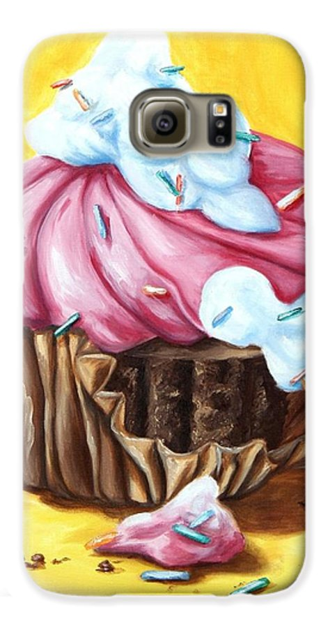 Cupcake Galaxy S6 Case featuring the painting Cupcake by Maryn Crawford