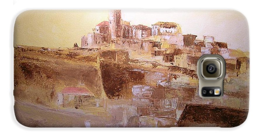 Original Cityscpae Galaxy S6 Case featuring the painting D Alt Vila Ibiza Old Town by Lizzy Forrester