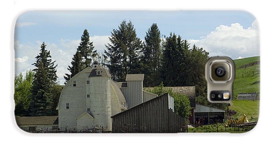 Barn Galaxy S6 Case featuring the photograph Dahmen Barn Historical by Louise Magno
