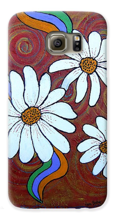 Galaxy S6 Case featuring the painting Daisies Gone Wild by Tami Booher