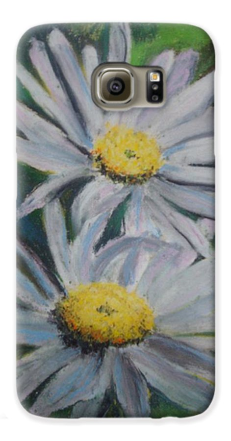 Daisies Galaxy S6 Case featuring the painting Daisies by Melinda Etzold