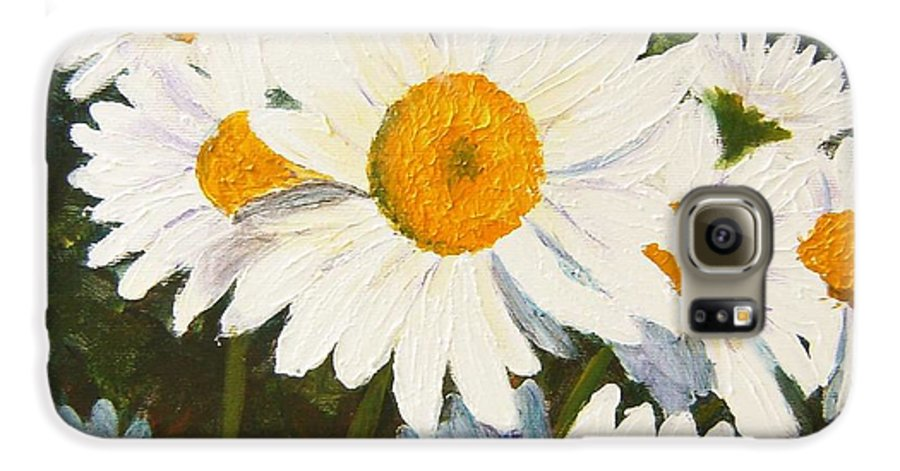 Daisy Galaxy S6 Case featuring the painting Daisy by Tami Booher