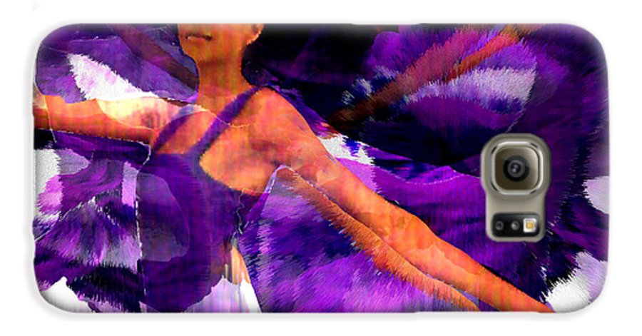 Mystical Galaxy S6 Case featuring the digital art Dance Of The Purple Veil by Seth Weaver