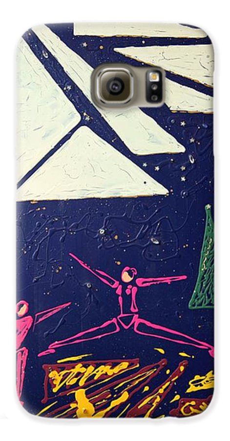 Dancers Galaxy S6 Case featuring the mixed media Dancing Under The Starry Skies by J R Seymour