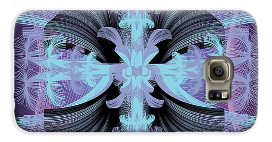 Fantasy Galaxy S6 Case featuring the digital art Dandilion Puffs by George Pasini