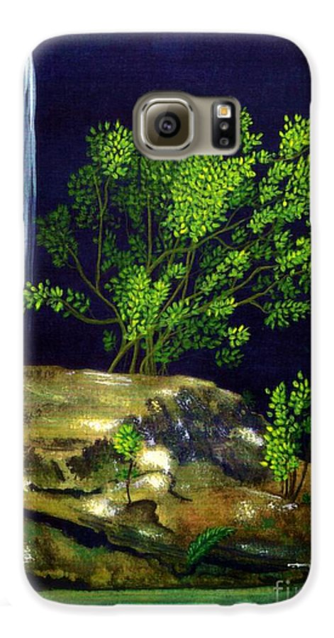 Fine Art Galaxy S6 Case featuring the painting Dark Waters by Patricia Griffin Brett