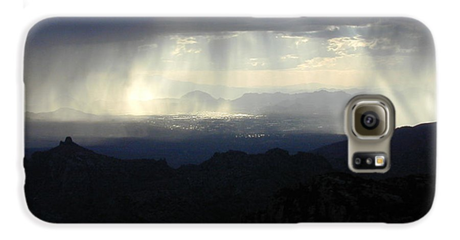 Darkness Galaxy S6 Case featuring the photograph Darkness Over The City by Douglas Barnett