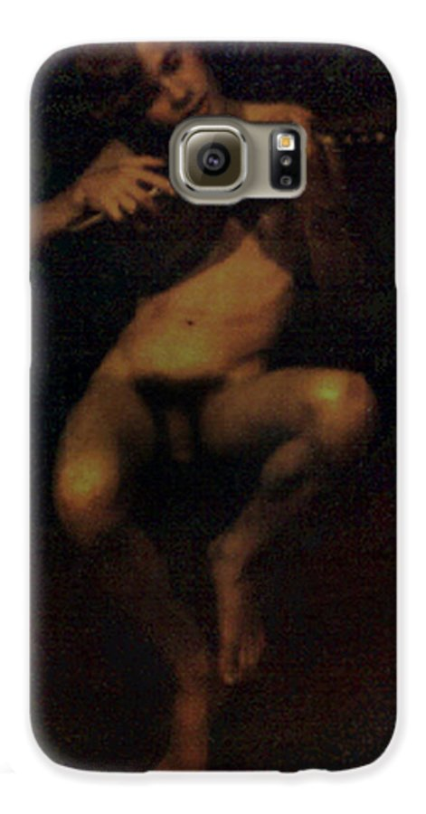 Male Galaxy S6 Case featuring the painting David.06 by Terrell Gates
