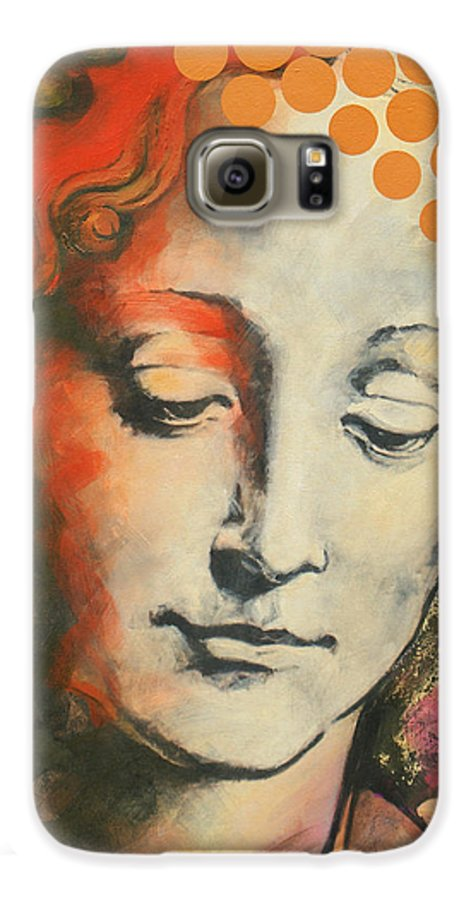 Figurative Galaxy S6 Case featuring the painting Davinci's Head by Jean Pierre Rousselet