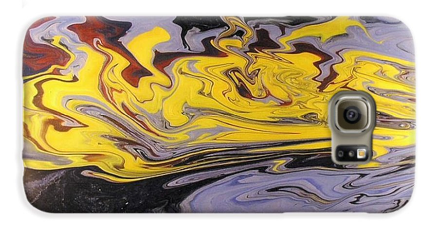 Acrylic Galaxy S6 Case featuring the painting Dawn Light by Patrick Mock