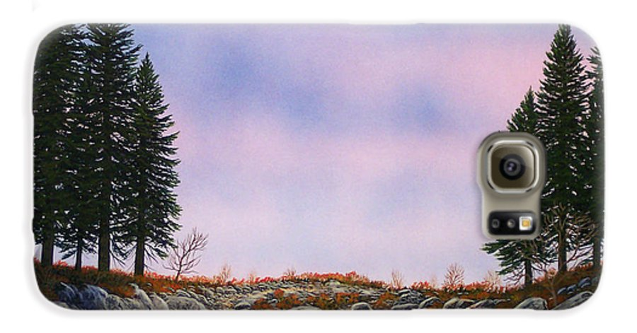 Landscape Galaxy S6 Case featuring the painting Dawn Pacific Crest Trail by Frank Wilson