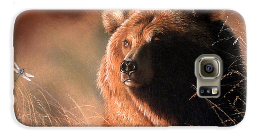 Wildlife Galaxy S6 Case featuring the painting Day Dream by Deb Owens-Lowe