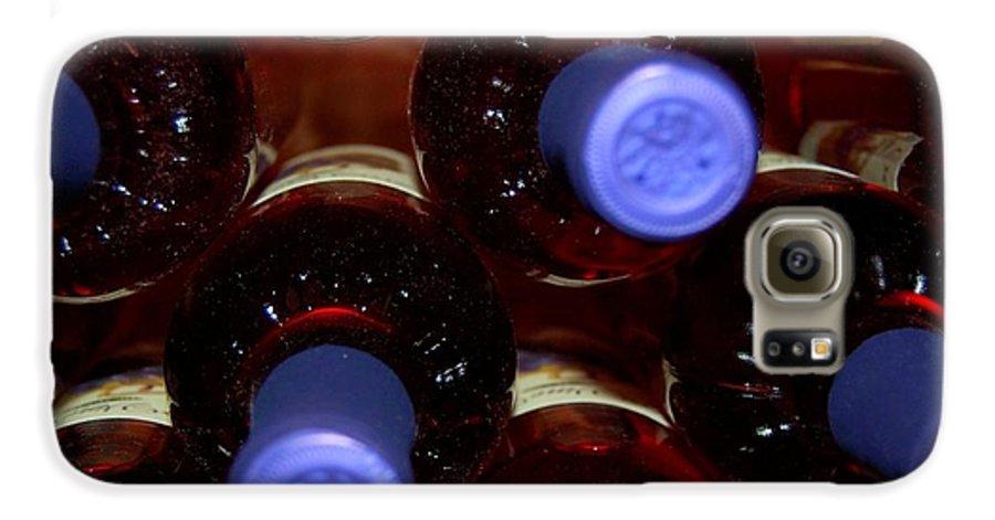 Wine Galaxy S6 Case featuring the photograph De-vine Wine by Debbi Granruth
