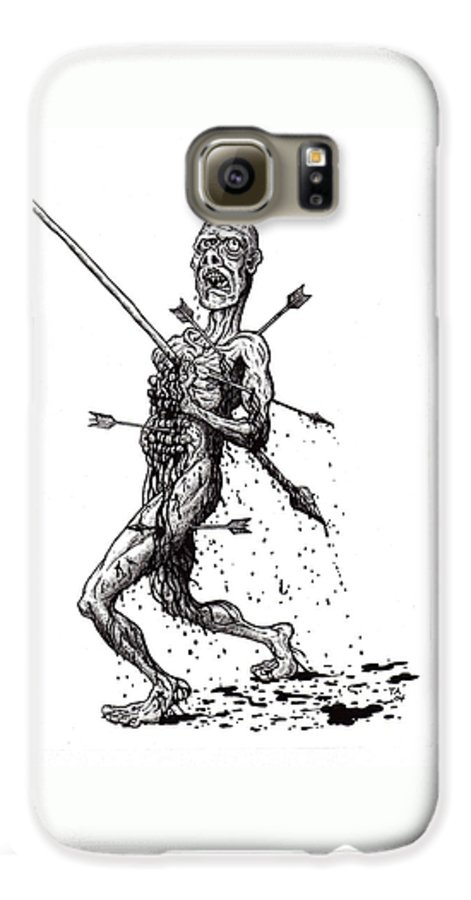 Dark Galaxy S6 Case featuring the drawing Death March by Tobey Anderson