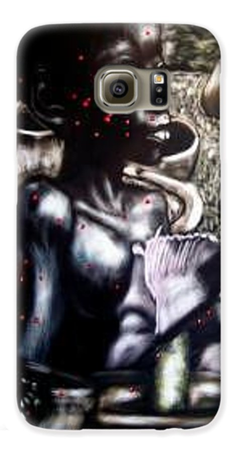 Commentary Galaxy S6 Case featuring the mixed media Death Of A Thousand Cuts by Chester Elmore