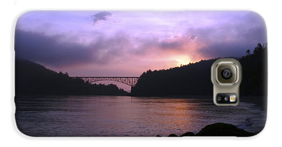 Sunrise Galaxy S6 Case featuring the photograph Deception Pass Sunrise by Idaho Scenic Images Linda Lantzy