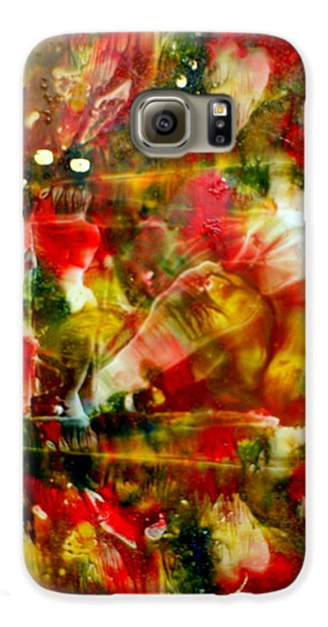 Window Galaxy S6 Case featuring the painting Deck The Halls by Susan Kubes