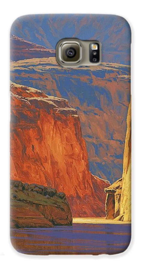 Grand Canyon Galaxy S6 Case featuring the painting Deep In The Canyon by Cody DeLong