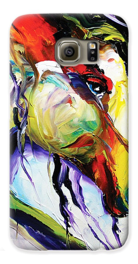 Horse Paintings Galaxy S6 Case featuring the painting Deep Memories by Laurie Pace