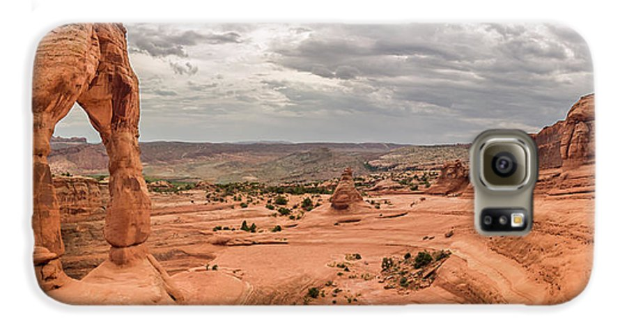 3scape Photos Galaxy S6 Case featuring the photograph Delicate Arch Panoramic by Adam Romanowicz