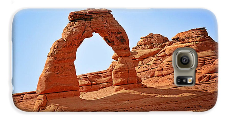 Landscape Galaxy S6 Case featuring the photograph Delicate Arch The Arches National Park Utah by Christine Till