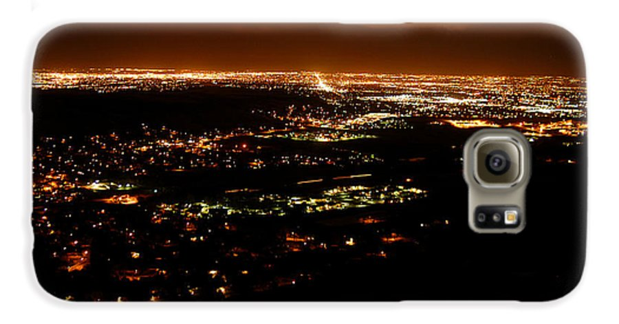 Clay Galaxy S6 Case featuring the photograph Denver Area At Night From Lookout Mountain by Clayton Bruster