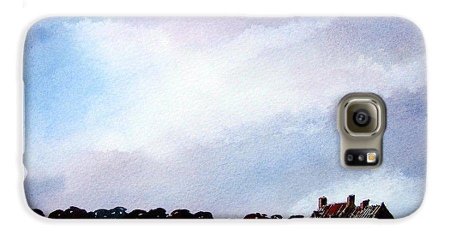 Watercolour Galaxy S6 Case featuring the painting Derelict Farmhouse Near Malton by Paul Dene Marlor