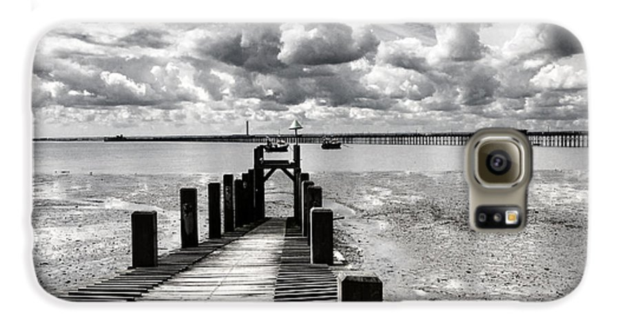 Wharf Southend Essex England Beach Sky Galaxy S6 Case featuring the photograph Derelict Wharf by Sheila Smart Fine Art Photography