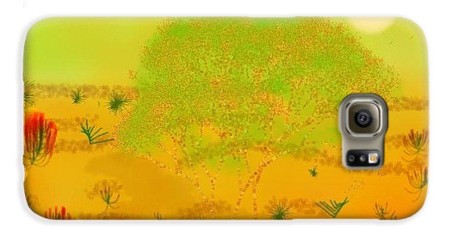 Sky.heat.dust.sun.desert.bush.sand.prickles. Sandy Dunes.rest.silence. Galaxy S6 Case featuring the digital art Desert by Dr Loifer Vladimir