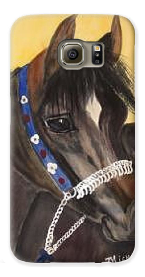 Arabian Horse Galaxy S6 Case featuring the painting Desert Dream by Michele Turney