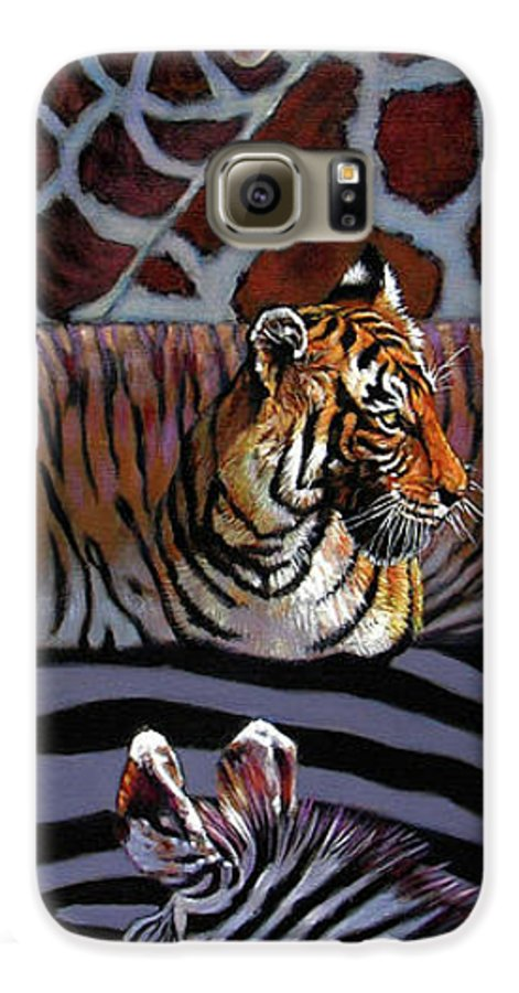 Animals Galaxy S6 Case featuring the painting Designs For Defense And Offense by John Lautermilch