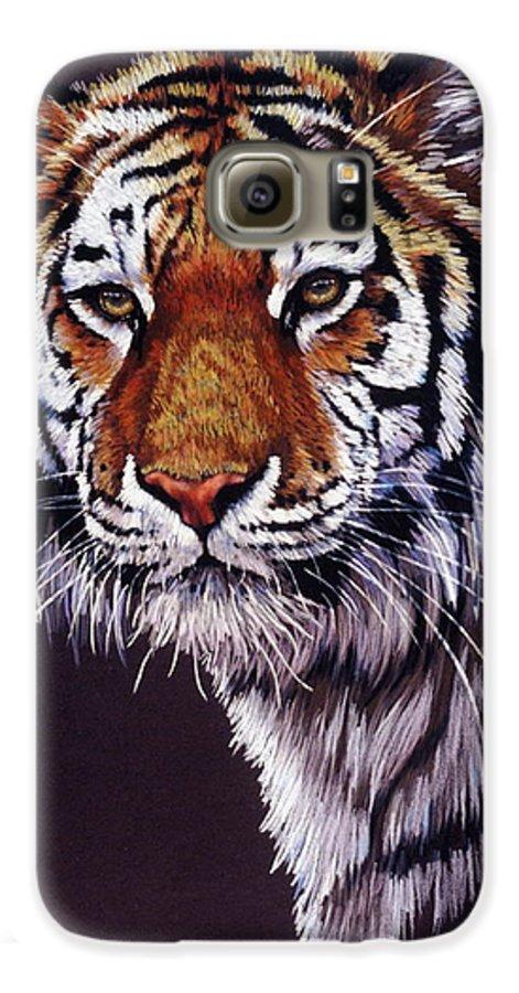 Tiger Galaxy S6 Case featuring the drawing Desperado by Barbara Keith