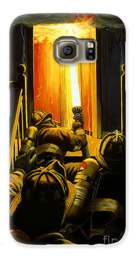 Firefighting Galaxy S6 Case featuring the painting Devil's Stairway by Paul Walsh