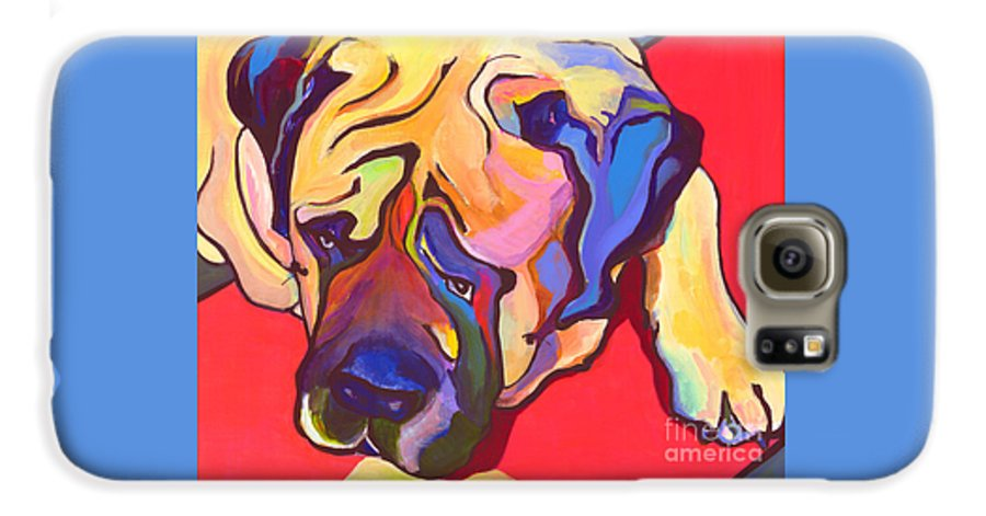 Mastiff Galaxy S6 Case featuring the painting Diesel  by Pat Saunders-White