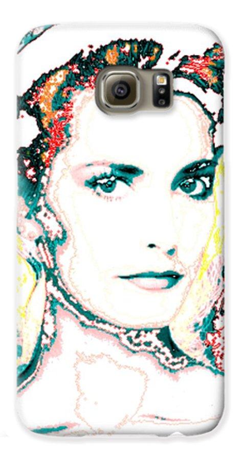 Digital Galaxy S6 Case featuring the digital art Digital Self Portrait by Kathleen Sepulveda
