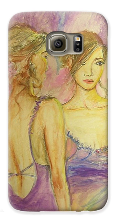 Feminine Galaxy S6 Case featuring the painting Distracted by Lizzy Forrester
