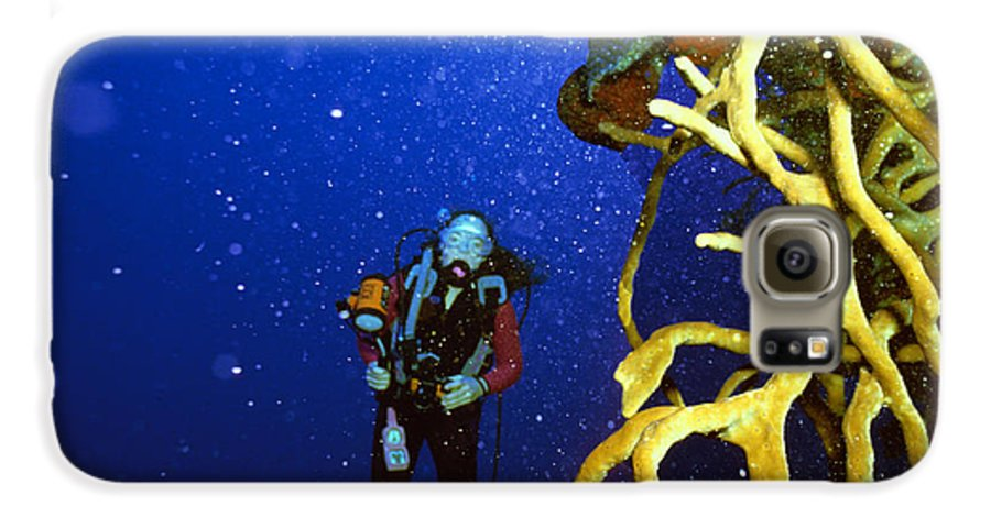 Dive Galaxy S6 Case featuring the photograph Diving The Wall At Little Cayman by Carl Purcell