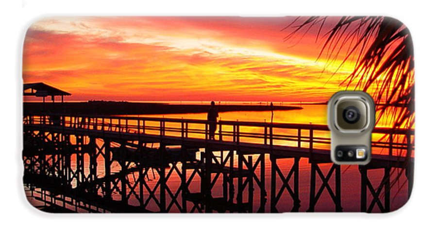 Palms Galaxy S6 Case featuring the photograph Docking It by Debbie May