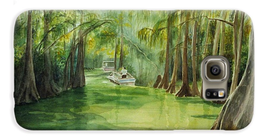 Passage Between Lakes Galaxy S6 Case featuring the painting Dora Passage by Judy Swerlick