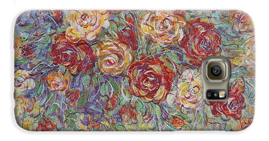 Flowers Galaxy S6 Case featuring the painting Double Delight. by Natalie Holland