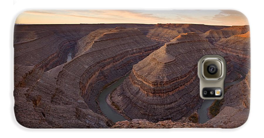 Goosenecks State Park Galaxy S6 Case featuring the photograph Doubleback by Mike Dawson
