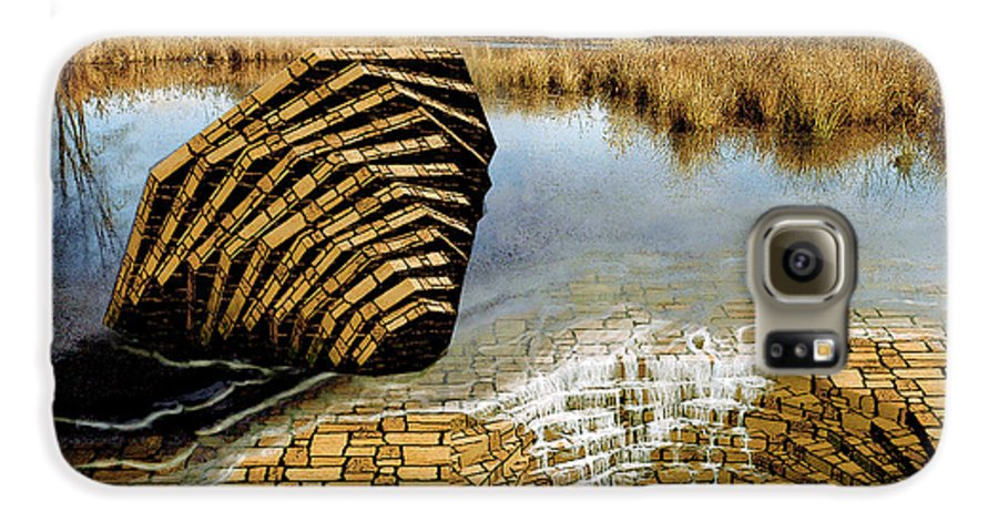 Drain Galaxy S6 Case featuring the digital art Drain - Mendon Ponds by Peter J Sucy