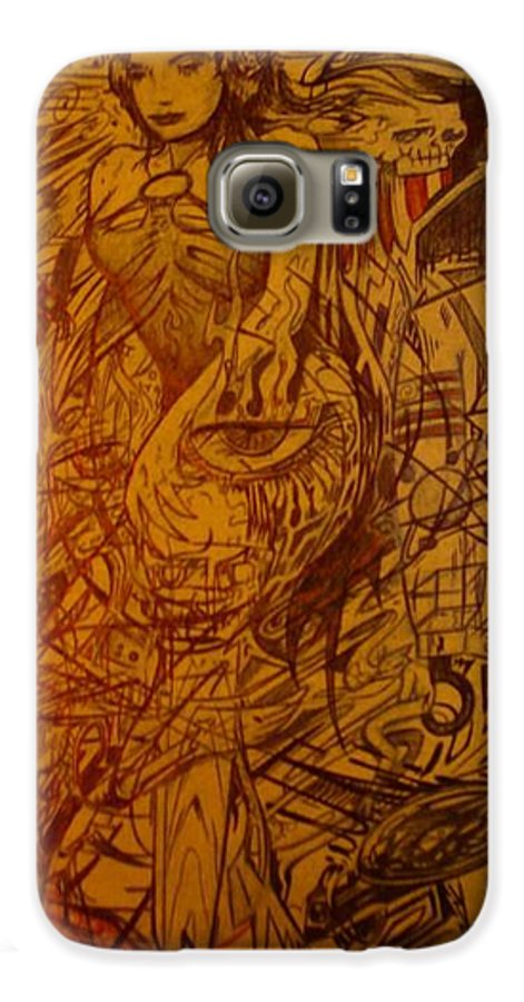 Chaos Galaxy S6 Case featuring the drawing Dream by Will Le Beouf