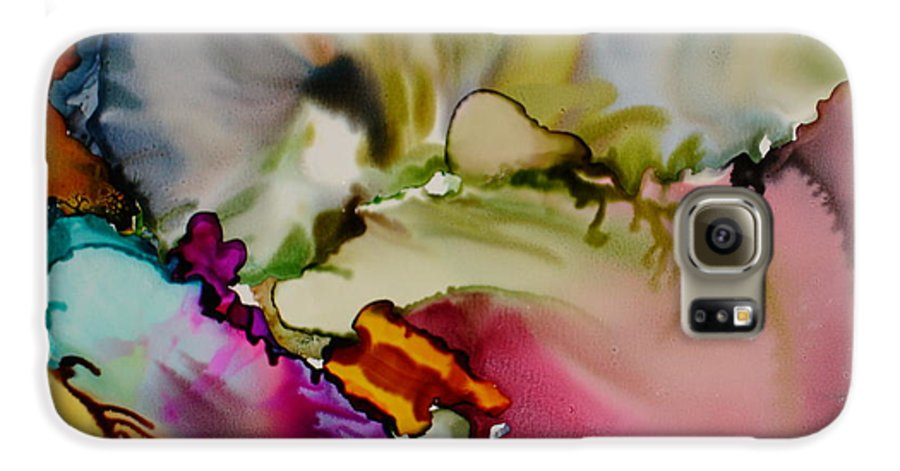 Abstract Galaxy S6 Case featuring the painting Dreaming by Susan Kubes