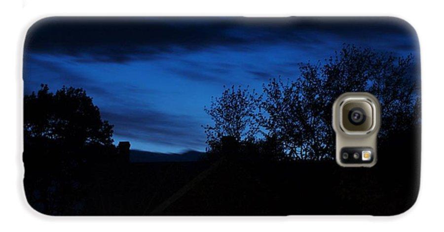 Silhouette Galaxy S6 Case featuring the photograph Dusk by Faith Harron Boudreau