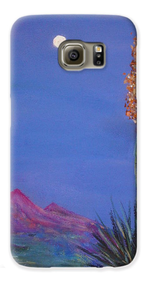 Evening Galaxy S6 Case featuring the painting Dusk by Melinda Etzold
