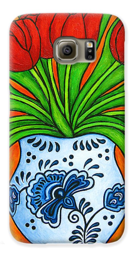 White Galaxy S6 Case featuring the painting Dutch Delight by Lisa Lorenz